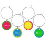 The Girls in Summer Brights Personalized Wine Glass Charm