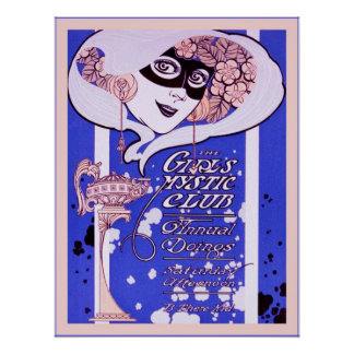 The Girls Mystic Club ~ Vintage Advertising Poster