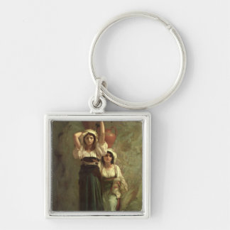 The Girls of Alvito, 1855 Silver-Colored Square Keychain