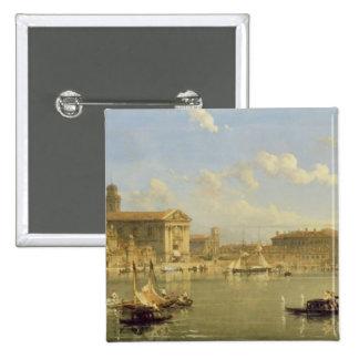 The Giudecca, Venice, 1854 (oil on canvas) Pinback Button