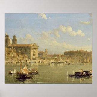 The Giudecca, Venice, 1854 (oil on canvas) Print