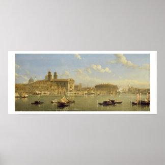 The Giudecca, Venice, 1854 (oil on canvas) Posters