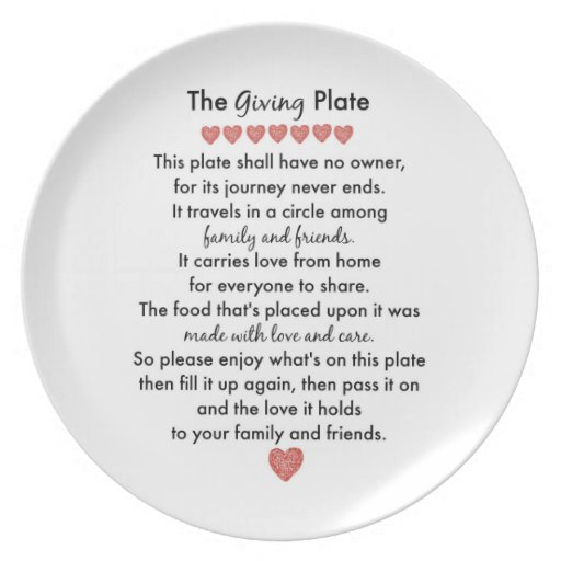 The Giving Plate Zazzle