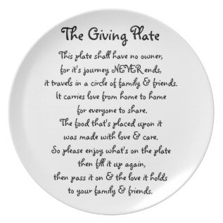 The Giving Plate at Zazzle