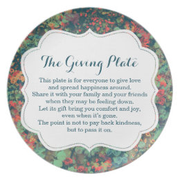 The Giving Plate Pass It on Pay it Forward