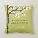 "The Giving Tree Throw Pillow<br><div class=""desc"">Once there was a tree... and she loved a little boy / girl (Text is customizable). Inspired by the story The Giving Tree, by Shel Silverstein, this design features a half / left side image of a tree adorned by lush leaves. The featured colors are a classic dark brown /...</div>"