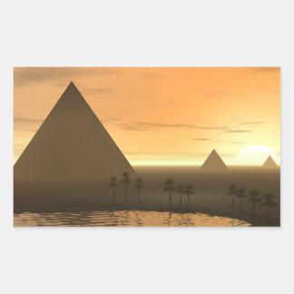 The Giza Necropolis Rectangular Sticker