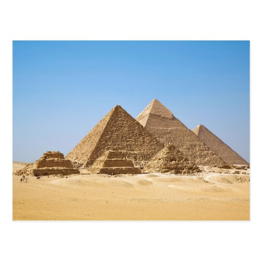 The Gizah Pyramids in Egypt Postcard
