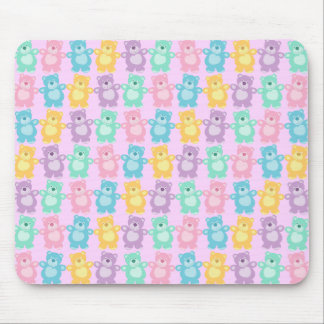 The glad dancing bears of colors mouse pad