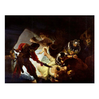 The glare Simsons by Rembrandt Postcard