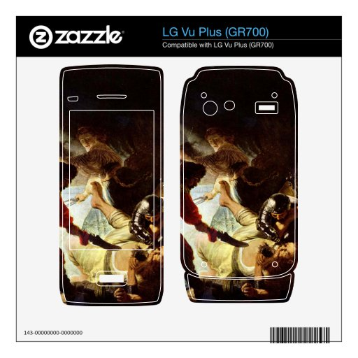 The glare Simsons by Rembrandt Decals For LG Vu Plus