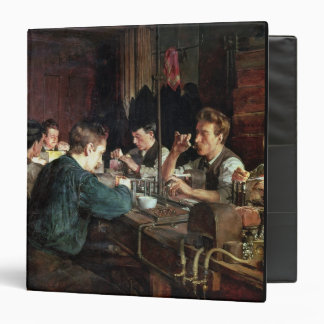 The Glass Blowers, 1883 (oil on canvas) 3 Ring Binder