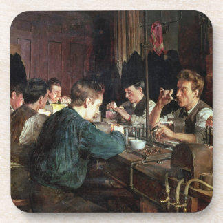 The Glass Blowers, 1883 (oil on canvas) Drink Coaster