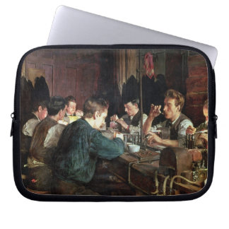 The Glass Blowers, 1883 (oil on canvas) Laptop Sleeve
