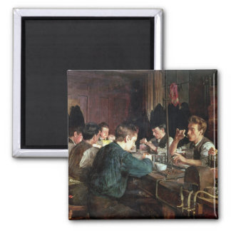 The Glass Blowers, 1883 (oil on canvas) Fridge Magnet