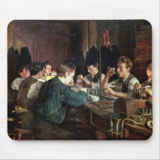 The Glass Blowers, 1883 (oil on canvas) Mouse Pad