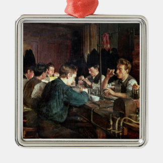The Glass Blowers, 1883 (oil on canvas) Christmas Tree Ornaments
