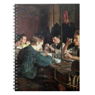 The Glass Blowers, 1883 (oil on canvas) Spiral Notebook