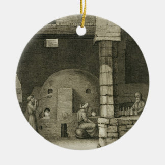 The Glass Bottle Maker, from Volume II Arts and Tr Ceramic Ornament