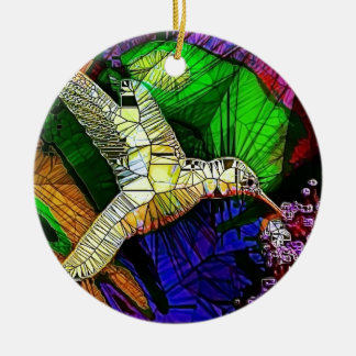 The Glass HummingBird Ceramic Ornament