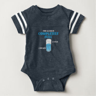 The glass is completely full baby bodysuit