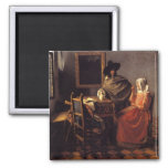 The Glass of Wine 2 Inch Square Magnet