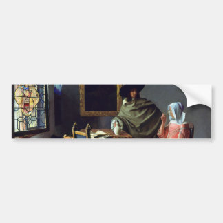 The Glass of Wine by Johannes Vermeer Bumper Sticker