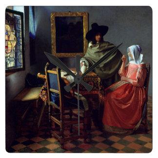 The Glass of Wine by Johannes Vermeer Wallclocks
