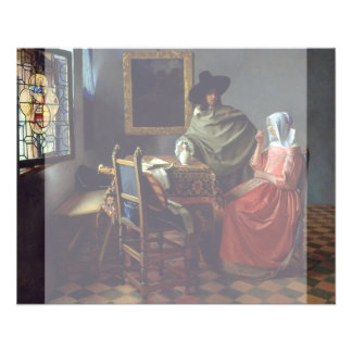 The Glass of Wine by Johannes Vermeer Flyer