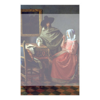 The Glass of Wine by Johannes Vermeer Flyers