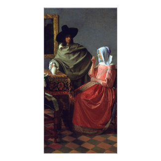 The Glass of Wine by Johannes Vermeer Personalized Photo Card