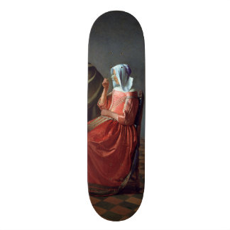 The Glass of Wine by Johannes Vermeer Skate Boards