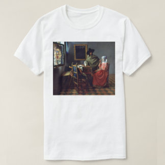 The Glass of Wine by Johannes Vermeer T-Shirt