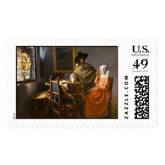 The Glass of Wine - Postage Stamp