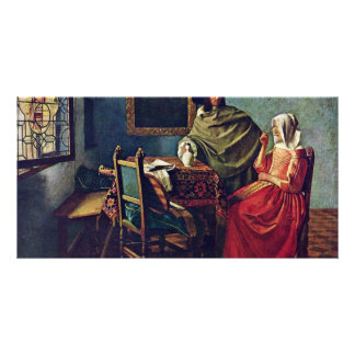 The Glass Of Wine Title Of The Gemäldegalerie In B Photo Greeting Card