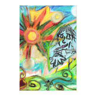 """The Glass Rock""  Oil Pastel by Levi Glassrock Canvas Print"