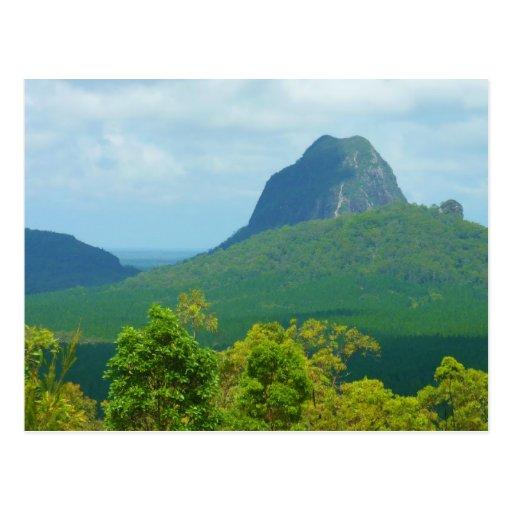 The Glasshouse Mountains landscape photo postcard
