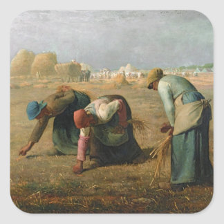 The Gleaners, 1857 Square Sticker