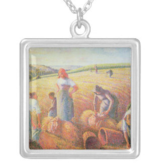 The Gleaners, 1889 Silver Plated Necklace