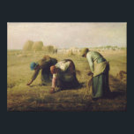 "The Gleaners by Jean-Fran&#231;ois Millet 1857 Canvas Print<br><div class=""desc"">The Gleaners (Des glaneuses) is an oil painting by Jean-Fran&#231;ois Millet completed in 1857. It depicts three peasant women gleaning a field of stray grains of wheat after the harvest. The painting is famous for featuring in a sympathetic way what were then the lowest ranks of rural society; this was...</div>"