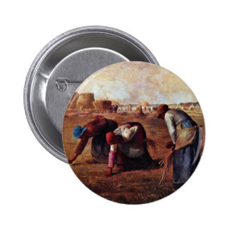 The Gleaners By Millet  (Best Quality) Button