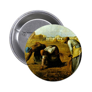 The Gleaners,  By Millet  (Best Quality) Button