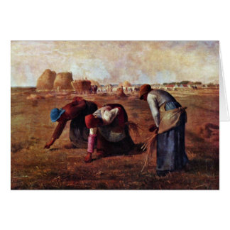 The Gleaners By Millet  (Best Quality) Card