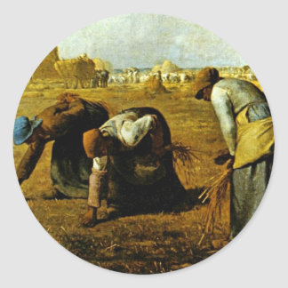 The Gleaners,  By Millet  (Best Quality) Classic Round Sticker