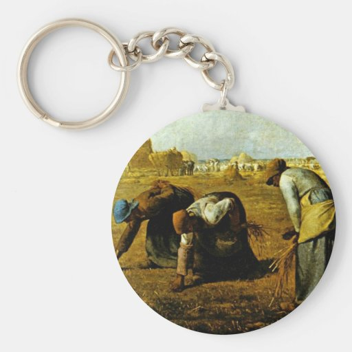 The Gleaners,  By Millet  (Best Quality) Keychains