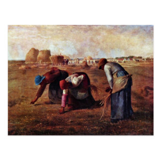 The Gleaners By Millet  (Best Quality) Postcard