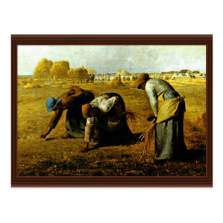 The Gleaners,  By Millet  (Best Quality) Postcard