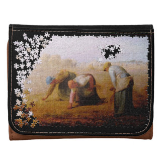 The Gleaners classic masterpiece jigsaw puzzle Wallets