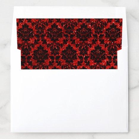 The Glitter Damask Las Vegas Wedding Collection Envelope Liner