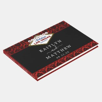 The Glitter Damask Las Vegas Wedding Collection Guest Book